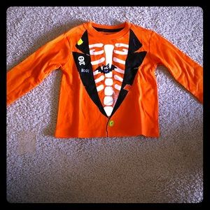 Halloween Skeleton Long Sleeve Tee, Boys' 12M
